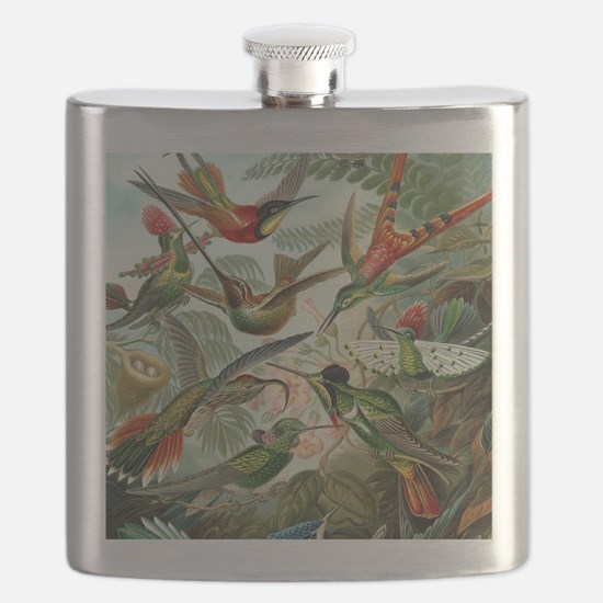 Vintage Hummingbirds Decorative Flask