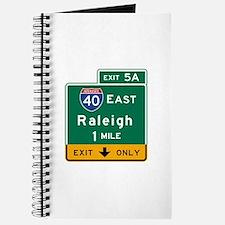 Raleigh, NC Road Sign, USA Journal