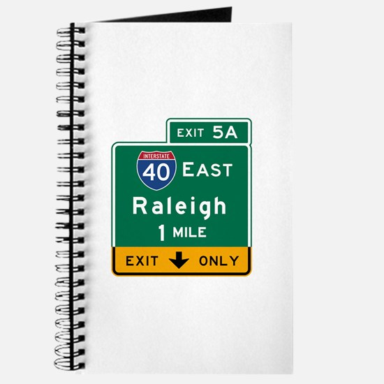 Raleigh, NC Road Sign, USA Journal