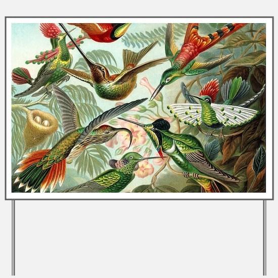 Vintage Hummingbirds Decorative Yard Sign
