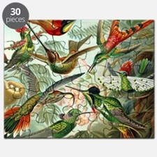 Vintage Hummingbirds Decorative Puzzle