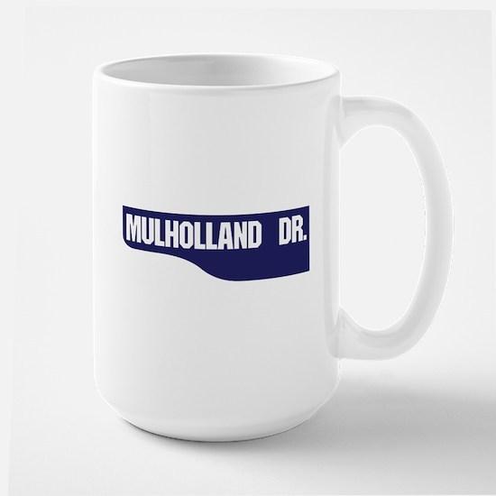 Mulholland Drive, Old-Style Street Sign Large Mug