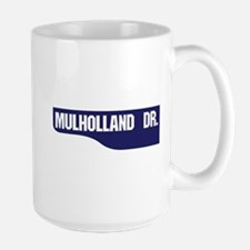 Mulholland Drive, Old-Style Street Sign Mug