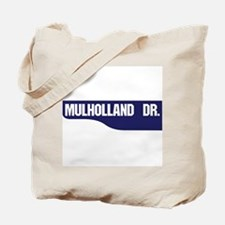 Mulholland Drive, Old-Style Street Sign, Tote Bag