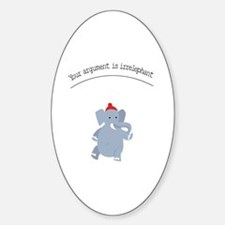 Cute Red elephants Decal