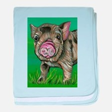 Spotted Micro Pig baby blanket