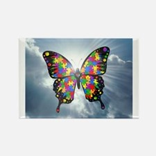 """Autism Butterfly Sky - 2.25"""" Magnets"""