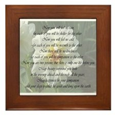 Apache Marriage Blessing Framed Tile