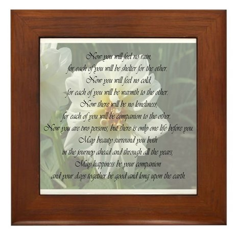Apache Marriage Blessing Framed Tile By Photographz