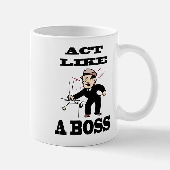 act like a boss Mugs