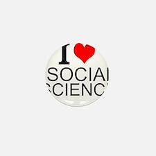 I Love Social Sciences Mini Button