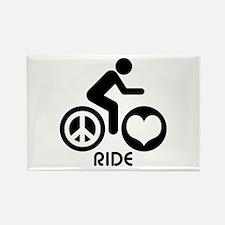 Peace Love Ride Rectangle Magnet