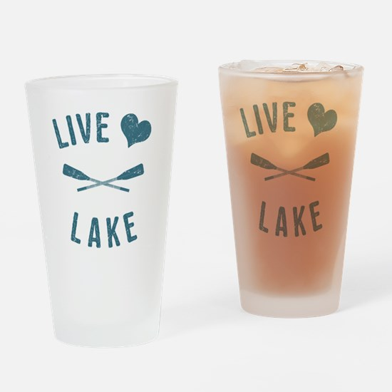Cute Live love Drinking Glass