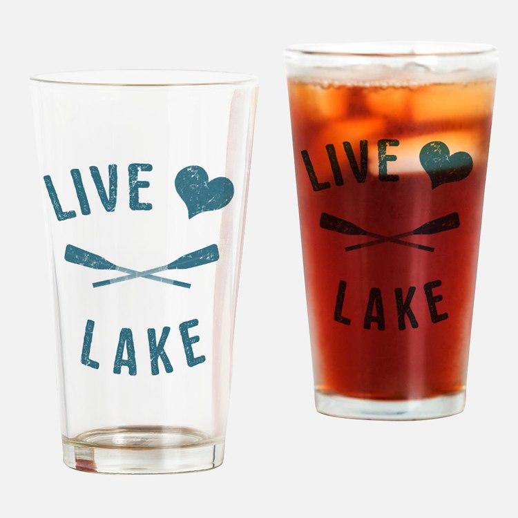 Cute Love beach life Drinking Glass
