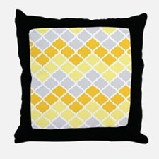 Funny Yellow gray Throw Pillow