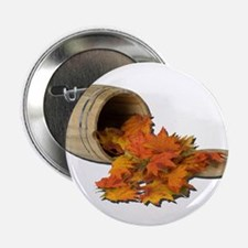 "Barrel and Leaves 2.25"" Button (10 pack)"