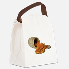 Barrel and Leaves Canvas Lunch Bag