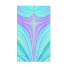 Yellow Cross Fractal Rectangle Decal