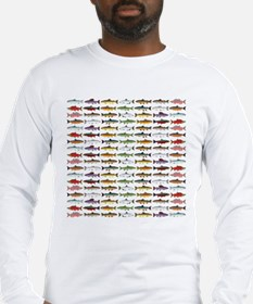 14 Trout and Salmon Pattern cp Long Sleeve T-Shirt