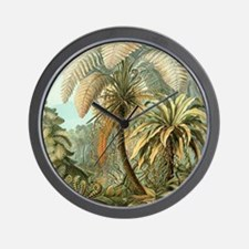 Vintage Tropical Palm Wall Clock