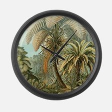 Vintage Tropical Palm Large Wall Clock