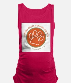 CCHS paw round logo with web si Maternity Tank Top