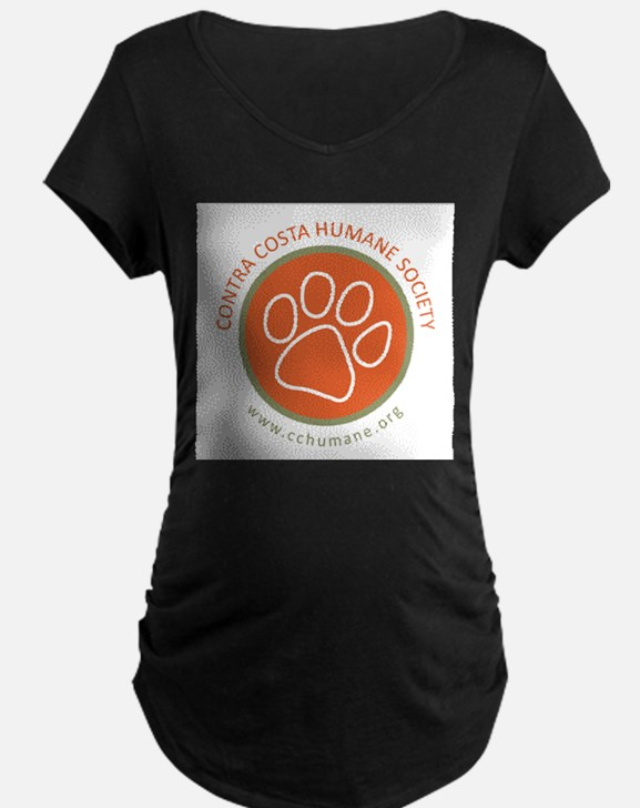 CCHS paw round logo with web sit Maternity T-Shirt