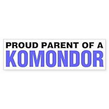 Proud Parent of a Komondor Bumper Sticker