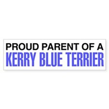 Proud Parent of a Kerry Blue Terrier Bumper Sticker