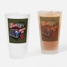 Old Truckers Never Die Drinking Glass