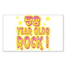 58 Year Olds Rock ! Rectangle Decal