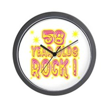 58 Year Olds Rock ! Wall Clock
