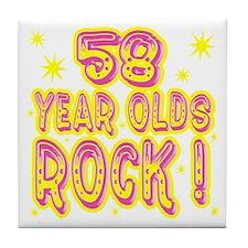 58 Year Olds Rock ! Tile Coaster