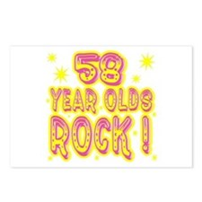 58 Year Olds Rock ! Postcards (Package of 8)