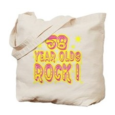 58 Year Olds Rock ! Tote Bag