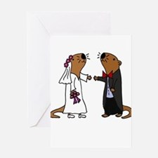 Funny Otter Wedding Greeting Cards