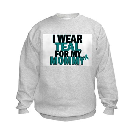 I Wear Teal For My Mommy 5 Kids Sweatshirt