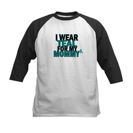 I Wear Teal For My Mommy 5 Kids Baseball Jersey