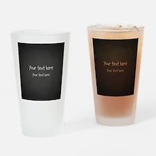 Custom Text Blackboard Drinking Glass