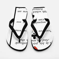 Cute Social justice Flip Flops