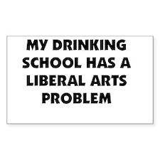 My Drinking School Has A Libe Sticker (Rectangular