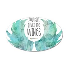 Autism Wings (CC) Wall Decal