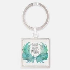 Autism Wings (CC) Square Keychain