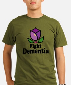 2-tulip-fight-dementia-button T-Shirt