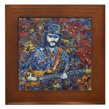 Painting of Les Claypool Framed Tile