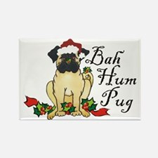 Bah Hum Bug Pug Rectangle Magnet