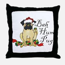 Bah Hum Bug Pug Throw Pillow