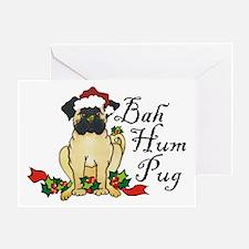 Bah Hum Bug Pug Greeting Card
