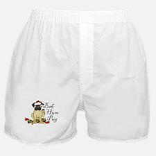 Bah Hum Bug Pug Boxer Shorts