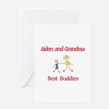 Aiden & Grandma - Buddies Greeting Card